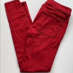 American Eagle Red Jegging